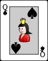 dama cartas jogo da sueca